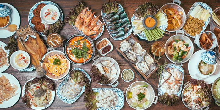 Food Spread from Laemgate Infinite at SJ Infinite One Business Complex in Chatuchak, Bangkok
