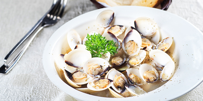 Clams Ala Vino from Georges Beach Club in East Coast, Singapore