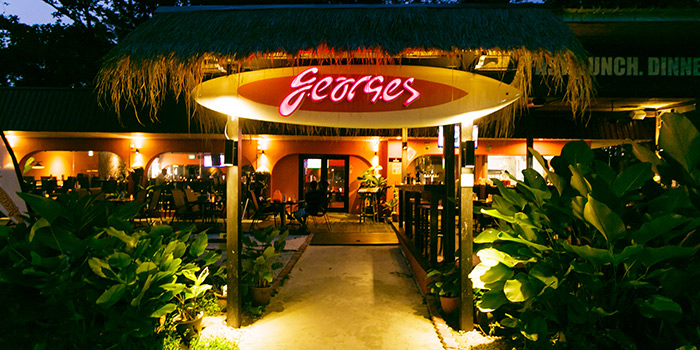 Entrance of Georges Beach Club in East Coast, Singapore