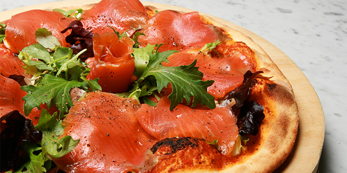 Salmon Pizza from LENAS @ Bugis+ in Bugis, Singapore