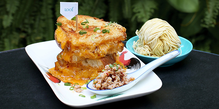 B.C.M. Grilled Cheese from Loof Rooftop Bar in Odeon Towers along North Bridge Road Singapore