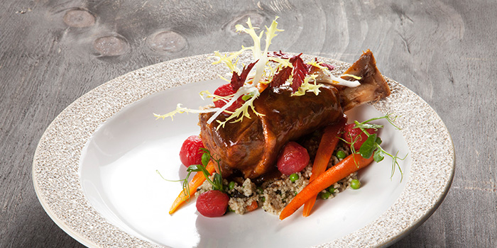 Braised Lamb Shank from Open Farm Community in Dempsey, Singapore