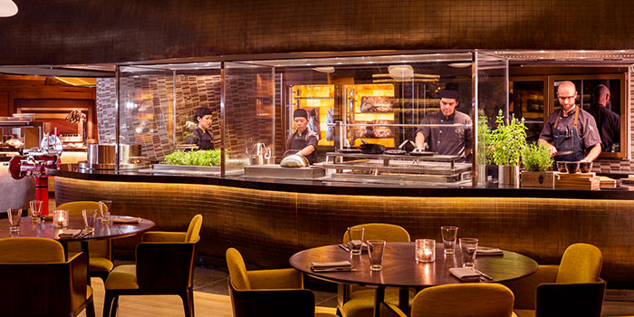 Open Kitchen in Opus Bar & Grill in Hilton Hotel along Orchard Road, Singapore