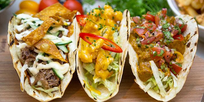 Tacos from REDPAN at Marina Square in Promenade, Singapore