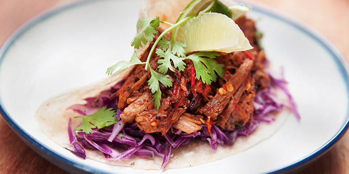 Pulled Pork Taco from Sarnies Cafe at Telok Ayer in Raffles Place, Singapore