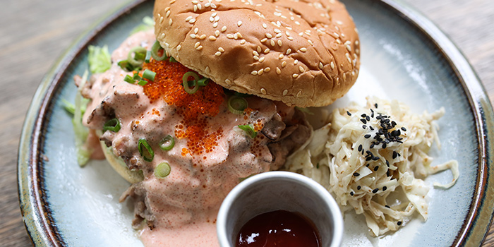 Aburi Mentaiko Burger from Sin Lee Foods in Tiong Bahru, Singapore