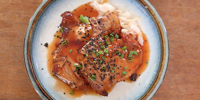 Skillet Kimchi Pork Chop from Sin Lee Foods in Tiong Bahru, Singapore