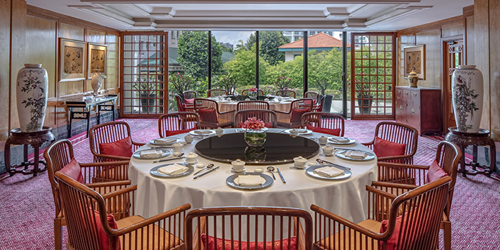 Private Room of Summer Palace serving Chinese cuisine in Regent Singapore in Tanglin, Singapore
