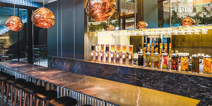 Bar Area of Alchemist Beer Lab at South Beach Avenue in Bugis, Singapore