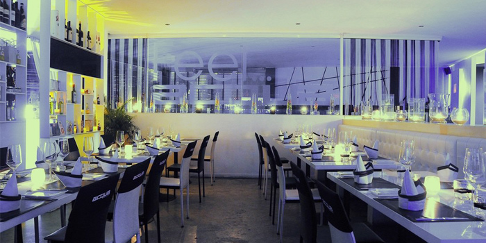 Ambience of Acqua Restaurant in Patong-Kathu, Phuket, Thailand