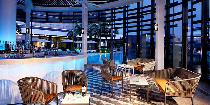 Interior of Aqua Luna in Park Hotel Alexandra at Queenstown, Singapore