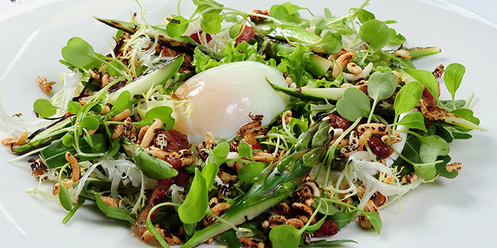 Asparagus Poached Egg Salad, Watermark, Central, Hong Kong