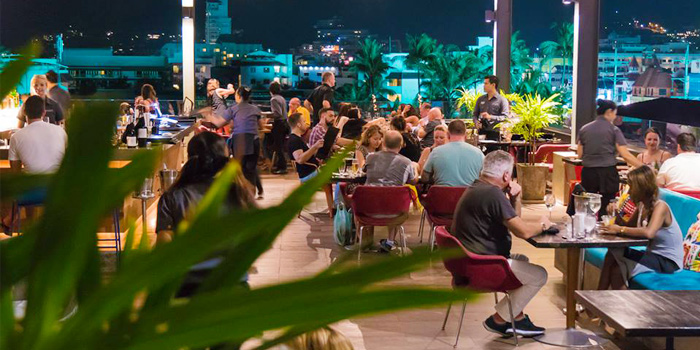 Atmosphere of HIGHER in Patong Kathu Phuket, Thailand