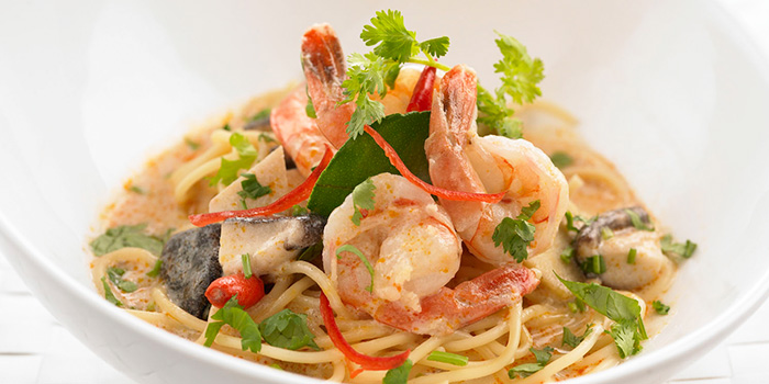 Spaghetti with Prawn in Coconut Sauce from Bangkok Jam (Bugis Junction) in Bugis, Singapore