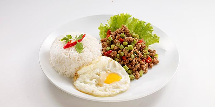 Stir Fried Minced Chicken Basil from Bangkok Jam (Bugis Junction) in Bugis, Singapore