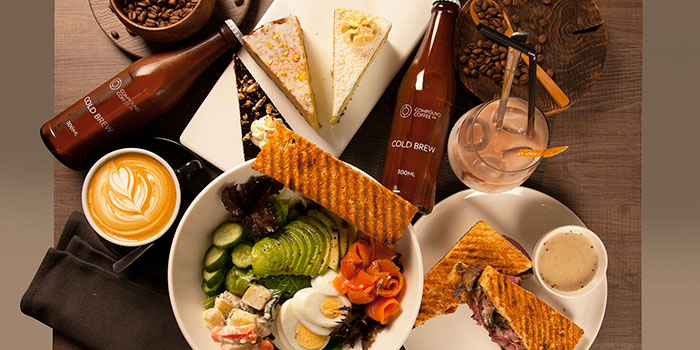 Food and Drinks Spread from Compound Coffee Co. in Eunos, Singapore
