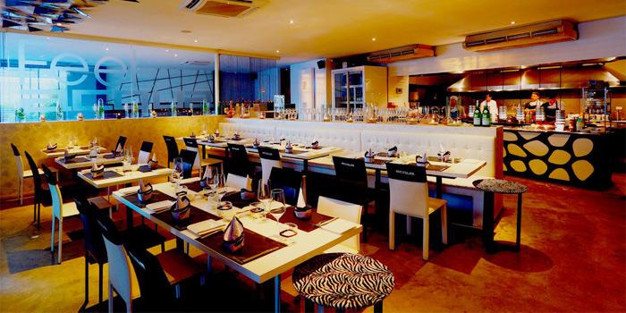 Dining Area of Acqua Restaurant in Patong-Kathu, Phuket, Thailand
