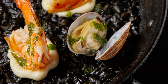 Black Mediterranean Squid Ink Paella from FOC Restaurant on Hong Kong Street in Boat Quay, Singapore