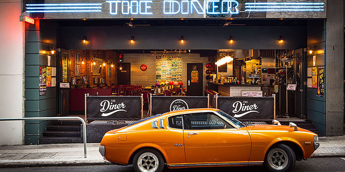 Exterior, The Diner, Central, Hong Kong