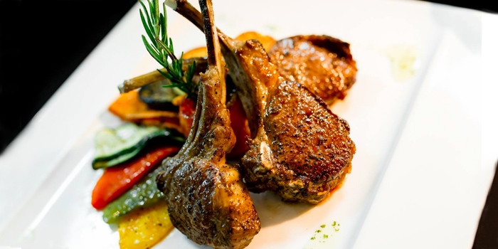 Lamb Chops Al Pesto from The 9th Floor restaurant & bar in Sky Inn Condotel Patong Kathu Phuket, Thailand