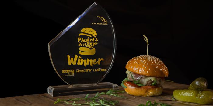OHLA Burger Prize from Kata Rocks Oceanfront Restaurant in Kok-Tanode Road Karon Muang Phuket, Thailand