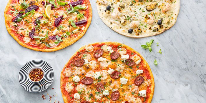 Pizza Spread from PizzaExpress (Scotts Square) in Orchard, Singapore