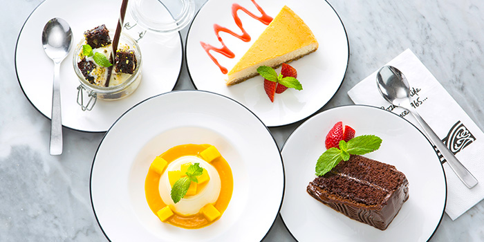 Dessert Spread from PizzaExpress (Scotts Square) in Orchard, Singapore