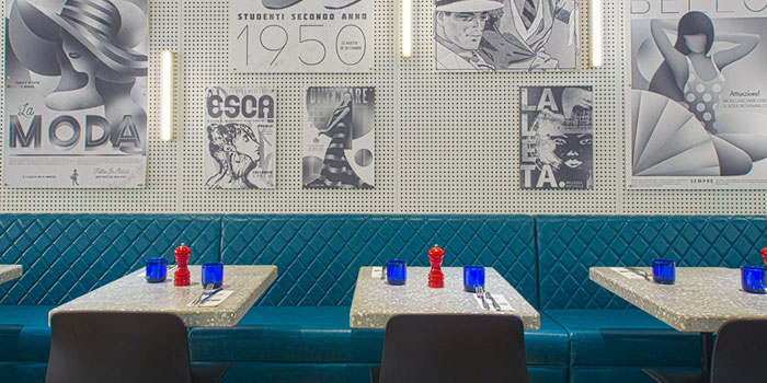 Dining Area of PizzaExpress (Scotts Square) in Orchard, Singapore