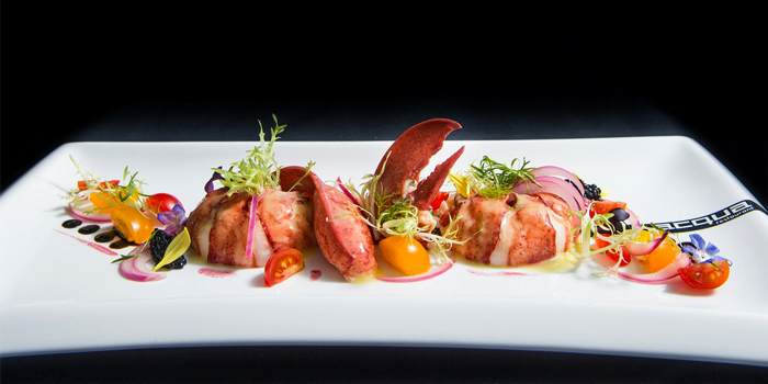 Poached Maine Lobster (800gr) Sardinia Style from Acqua Restaurant in Patong-Kathu, Phuket, Thailand