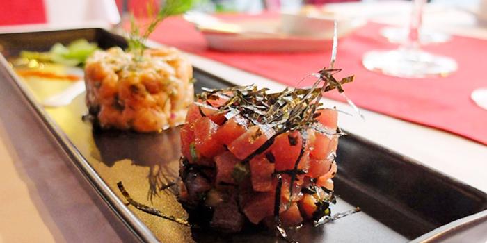Salmon and Tuna Tartare from DeDos in Cherngtalay Thalang Phuket, Thailand