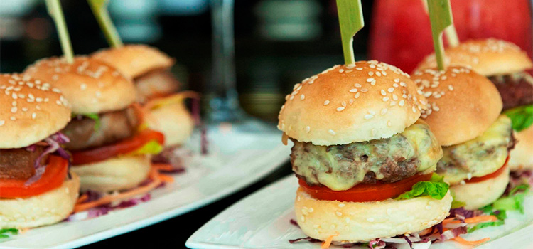 Petit Wagyu Beef Burger and Pork Belly Burger from The Landing Point in Fullerton Bay Hotel, Singapore