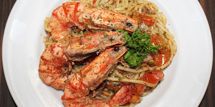 Prawn Pasta from WangZai Express in Chinatown, Singapore