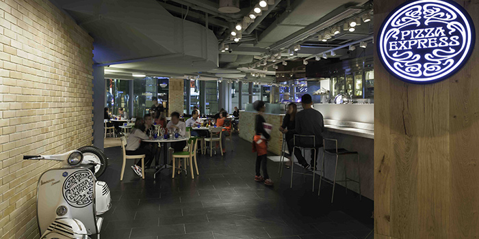 Interior of PizzaExpress K11, Tsim Sha Tsui, Hong Kong