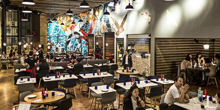 Interior of PizzaExpress Kornhill Plaza, Quarry Bay, Hong Kong