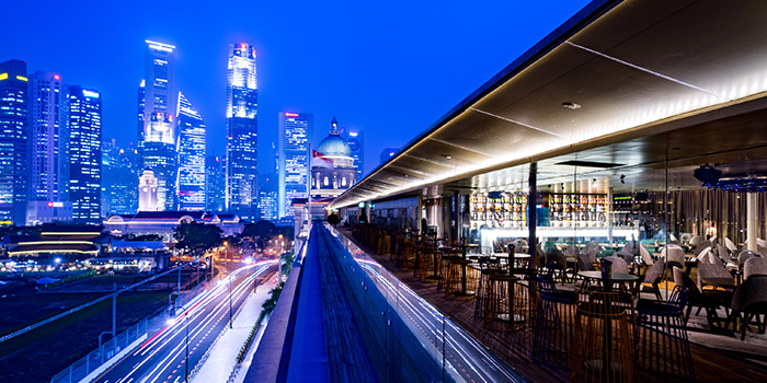 Alfresco Sky Lounge of Aura at National Gallery Singapore in City Hall, Singapore