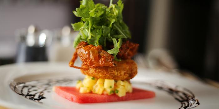 Crab Cake & Soft Shell Crab Salad from Phuket Marriott Resort and Spa, Nai Yang Beach, Phuket, Thailand.