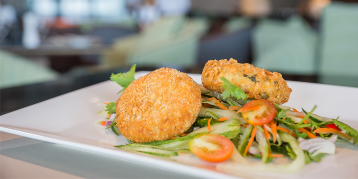 Crab Cake of Phuket Marriott Resort and Spa, Nai Yang Beach, Phuket, Thailand.