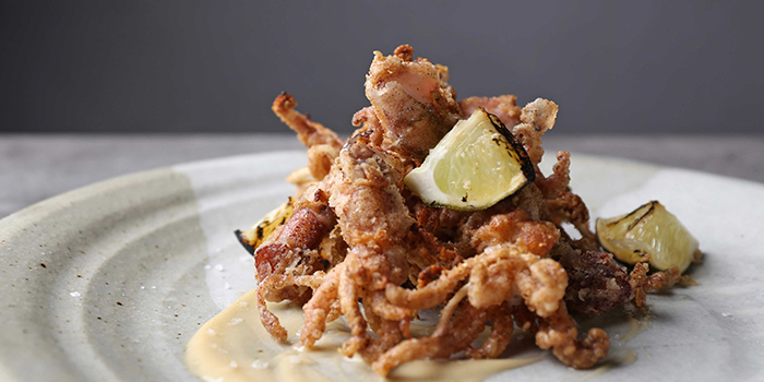 Crispy Baby Squid from NUDE Seafood in Marina Bay Financial Centre in Raffles Place, Singapore