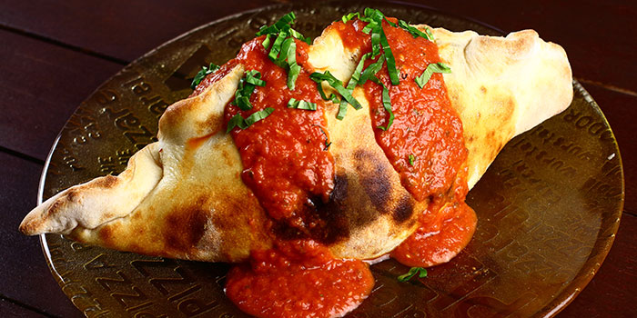 Baked Bread with Tomato from Giardino Pizza Bar & Grill at CHIJMES in City Hall, Singapore
