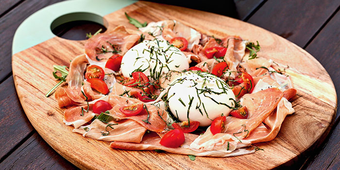 Burrata Cheese with Parma Ham from Giardino Pizza Bar & Grill at CHIJMES in City Hall, Singapore