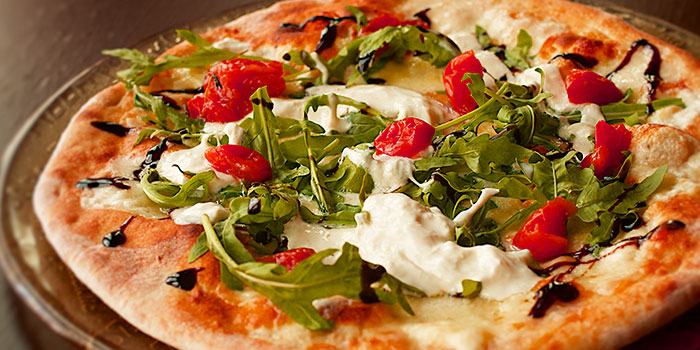 Burrata Cheese with Rocket Leaves from Giardino Pizza Bar & Grill at CHIJMES in City Hall, Singapore