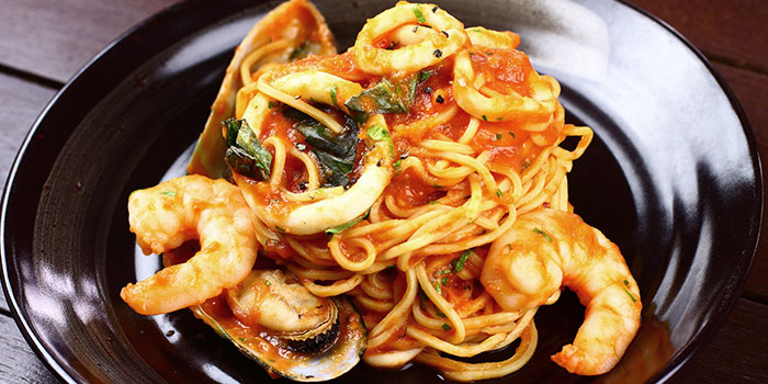 Seafood Pasta from Giardino Pizza Bar & Grill at CHIJMES in City Hall, Singapore