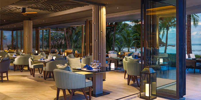 Indoor Dining Area of Phuket Marriott Resort and Spa, Nai Yang Beach, Phuket, Thailand.