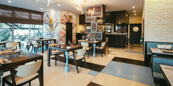 Indoor Dining Area of Iniala Kitchen & Bar in Cherngtalay, Phuket, Thailand
