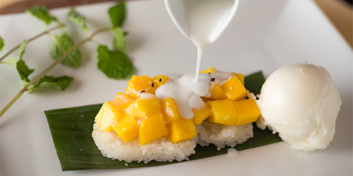 Mango Sticky Rice from Phuket Marriott Resort and Spa, Nai Yang Beach, Phuket, Thailand.