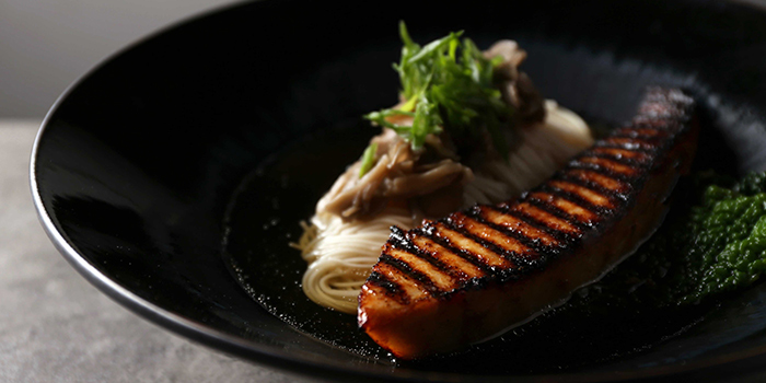 Miso Grilled Swordfish Belly from NUDE Seafood in Marina Bay Financial Centre in Raffles Place, Singapore