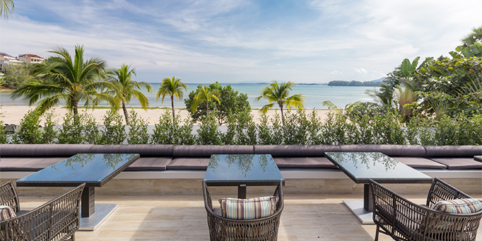 Outdoor Dining Area of Phuket Marriott Resort and Spa, Nai Yang Beach, Phuket, Thailand.