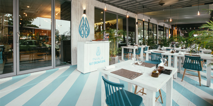 Outdoor Dining Area of Iniala Kitchen & Bar in Cherngtalay, Phuket, Thailand