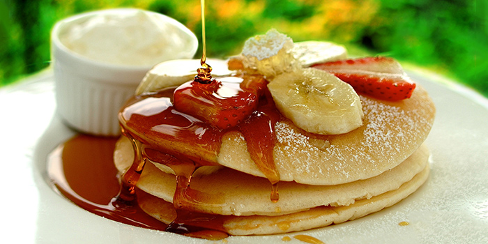 Pancakes from Prive CHIJMES in City Hall, Singapore