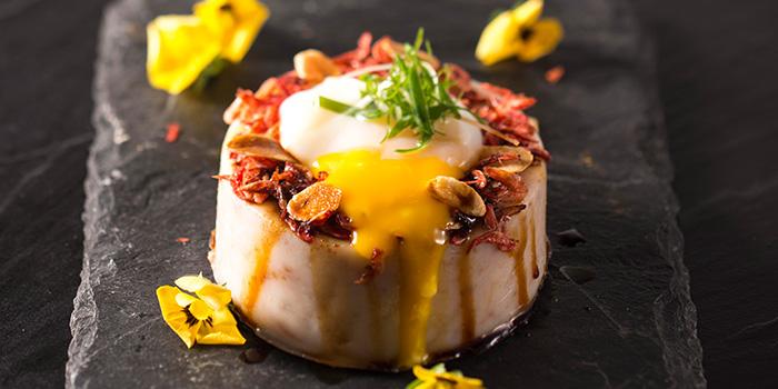 Poached Egg Turnip Cake, Dragon Noodles Acadamy, Central, Hong Kong